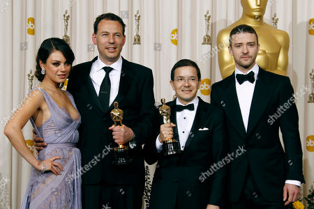 "Stock Picture of Shaun Tan, Andrew Ruhemann Shaun Tan and Andrew Ruhemann pose backstage with the Oscar for best animated short film for ""The Lost Thing"" at the 83rd Academy Awards, in the Hollywood section of Los Angeles"