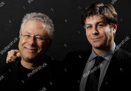 Alan Menken, Glenn Slater Songwriter Alan Menken, left, and lyricist Glenn Slater pose together for a portrait before the Academy Award Nominees Luncheon in Beverly Hills, Calif., on