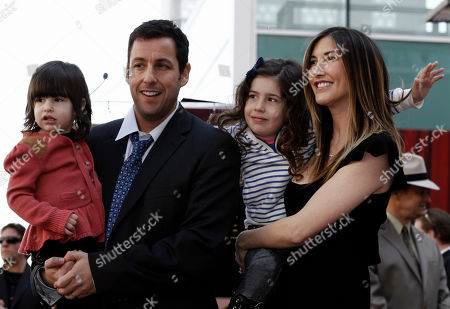 Sunny Sandler, Adam Sandler, Sadie Sandler, Jackie Sandler Sunny Sandler, Adam Sandler, Sadie Sandler, and Jackie Sandler are seend before Adam received a star on the Hollywood Walk of Fame in Los Angeles on