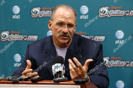 Tony Sparano Miami Dolphins Head Coach Tony Sparano Gestures During A News Conference