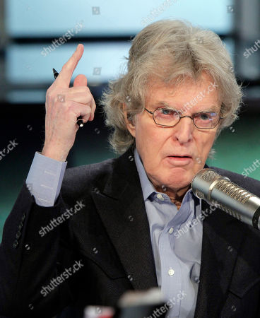 "Stock Photo of Don Imus Radio and television personality Don Imus on his ""Imus in the Morning"" program on the Fox Business Network, in New York"