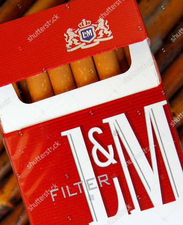 Stock Picture of Shows a pack of L&M cigarettes, a Phillip Morris product, in Hialeah, Fla