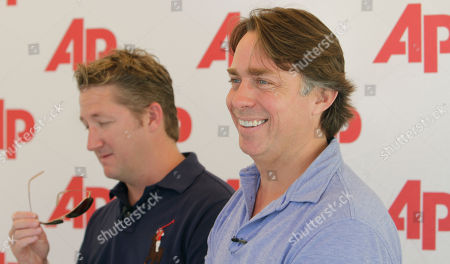"""John Besh, Tim Love This photo shows Chefs Tim Love, left, and John Besh during an interview with the Associated Press in Miami Beach, Fla.,at the South Beach Wine and Food show. Love cooks what he calls """"urban Western"""" and Besh was named as one of the """"Top 10 Best New Chefs in America"""