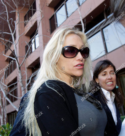 Stock Image of Lady Catarina Pietra Toumei, Gretchen Von Helms Lady Catarina Pietra Toumei, left, and her attorney, Gretchen Von Helms, arrive at the federal courthouse in San Diego, . Toumei, an alleged countess, has been charged in New York for wire fraud