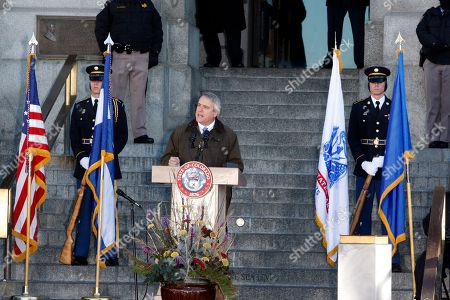 Stock Picture of Bill Ritter Out going Gob. Bill Ritter speaks at the inauguration ceremony for Gov. John Hickenlooper at the Capitol in Denver on