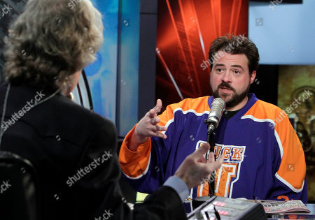 "Kevin Smith, Don Imus Actor and director Kevin Smith, right, is interviewed by host Don Imus on the ""Imus in the Morning"" program on the Fox Business Network, in New York"