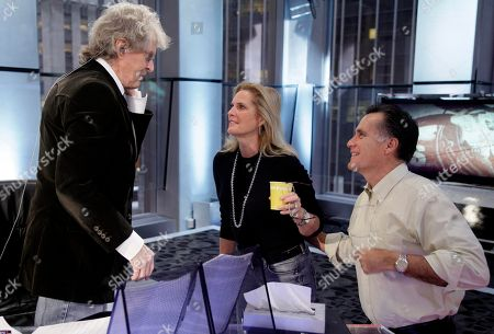 "Don Imus, Mitt Romney, Ann Romney Former Massachusetts Gov. Mitt Romney, right, and his wife, Ann Romney, talk with host Don Imus after his interview on the ""Imus in the Morning"" program on the Fox Business Network, in New York"