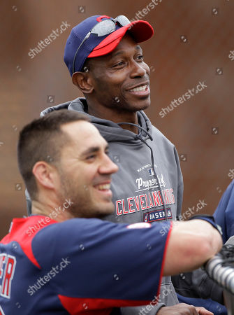 Kenny Lofton, Travis Hafner Former Cleveland Indians center fielder Kenny Lofton, top, watches batting practice with Travis Hafner at baseball spring training, in Goodyear, Ariz. Lofton spent the week as a guest instructor for his old team