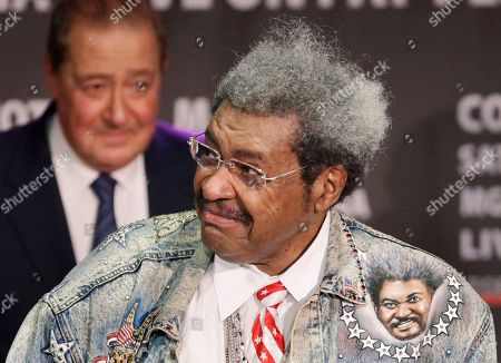 Promoters Don King, right, and Bob Arum attend a boxing news conference, in New York. They are promoting a boxing card that includes a super welterweight fight between Yuri Foreman and Pawel Wolak on March 12, 2011 in Las Vegas