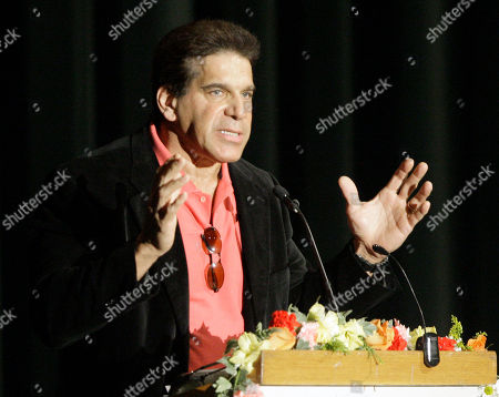 Actor and body builder Lou Ferrigno speaks at a memorial service for fitness guru Jack LaLanne, in Los Angeles . LaLanne died Jan. 23 at the age of 96