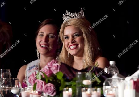 Teresa Scanlan, Nikki Haverland Teresa Scanlan, Miss America 2011 from Gering, Neb., right, sits next to Miss Nebraska Nikki Haverland at a dinner event on the last day of Scanlan's homecoming tour of Nebraska, in La Vista, Neb