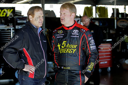 Rusty Wallace, Steve Wallace Former driver Rusty Wallace, left, talks with his son NASCAR driver Steve Wallace during an auto racing practice session at Daytona International Speedway in Daytona Beach, Fla