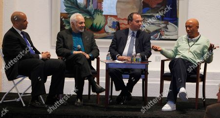 Russell Simmons, Marc Schneier, Cory Booker, Feisal Abdul Rauf Hip-hop mogul Russell Simmons, right, talks during a panel discussion along with, from left, Newark Mayor Cory Booker, Imam Feisal Abdul Rauf, and Rabbi Marc Schneier during an observance of Black History Month at the Newark Museum, in Newark, N.J