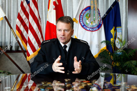"James Winnefeld NORAD/Northcom commander Admiral James Winnefeld responds to questions during an interview at his office at Peterson Air Force Base, Colo., on . Winnefeld said ""That the bombing at the Moscow airport was a real tragedy and it could have just as easily happened here"