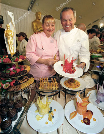 Sherry Yard, Wolfgang Puck Master Chef Wolfgang Puck, right, with Pastry Chef, Sherry Yard, present the desert menu for the 83rd Annual Academy Awards Governors Ball at the Oscar food and beverage preview at the Kodak Theatre in Los Angeles on