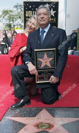 Nancy Kovack, Zubin Mehta Indian conductor Zubin Mehta poses with his wife Nancy Kovack, as he is honored with a star on the Hollywood Walk of Fame in Los Angeles on . The event coincided with his 50th anniversary as a conductor