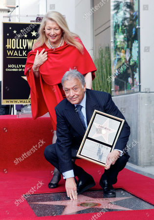 Stock Photo of Nancy Kovack, Zubin Mehta Indian conductor Zubin Mehta poses with his wife Nancy Kovack, as he is honored with a star on the Hollywood Walk of Fame in Los Angeles on . The event coincided with his 50th anniversary as a conductor