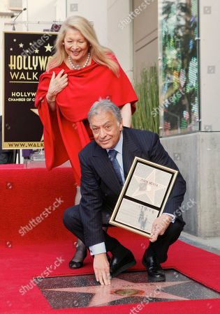 Stock Picture of Nancy Kovack, Zubin Mehta Indian conductor Zubin Mehta poses with his wife Nancy Kovack, as he is honored with a star on the Hollywood Walk of Fame in Los Angeles on