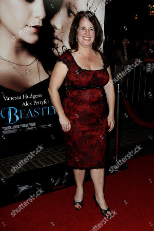 "Stock Image of Alex Flinn Author Alex Flinn arrives at the premiere of ""Beastly"" in Los Angeles, . Flinn wrote the novel ""Beastly"" which is the basis for the film"