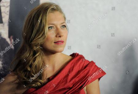 "Branka Katic Branka Katic, a cast member in the HBO series ""Big Love,"" poses at the Season 5 premiere in Los Angeles"
