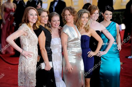 Stock Image of Melissa Leo, Kate B. O'Brien, Dendrie Taylor, Melissa McMeekin, Jenna Lamia, Bianca Hunter, Erica McDermott From left, Kate B. O'Brien, Dendrie Taylor, Melissa McMeekin, Melissa Leo, Jenna Lamia, Bianca Hunter and Erica McDermott arrives at the 17th Annual Screen Actors Guild Awards on in Los Angeles