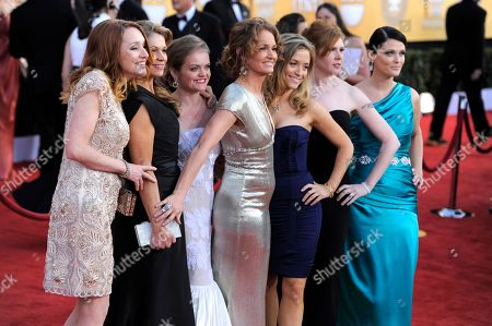 Melissa Leo, Kate B. O'Brien, Dendrie Taylor, Melissa McMeekin, Jenna Lamia, Bianca Hunter, Erica McDermott From left, Kate B. O'Brien, Dendrie Taylor, Melissa McMeekin, Melissa Leo, Jenna Lamia, Bianca Hunter and Erica McDermott arrives at the 17th Annual Screen Actors Guild Awards on in Los Angeles