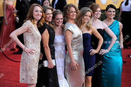 Stock Picture of Melissa Leo, Kate B. O'Brien, Dendrie Taylor, Melissa McMeekin, Jenna Lamia, Bianca Hunter, Erica McDermott From left, Kate B. O'Brien, Dendrie Taylor, Melissa McMeekin, Melissa Leo, Jenna Lamia, Bianca Hunter and Erica McDermott arrives at the 17th Annual Screen Actors Guild Awards on in Los Angeles