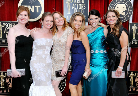 Stock Photo of Kate B. O'Brien, Dendrie Taylor, Melissa McMeekin, Jenna Lamia, Bianca Hunter, Erica McDermott From left, Bianca Hunter, Melissa McMeekin, Kate B. O'Brien, Jenna Lamia, Erica McDermott, and Dendrie Taylor arrive at the 17th Annual Screen Actors Guild Awards on in Los Angeles