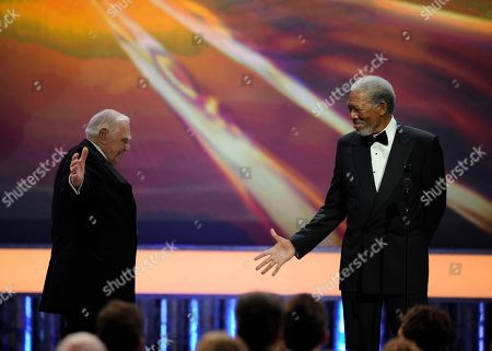Ernest Borgnine, Morgan Freeman Morgan Freeman, right, presents Ernest Borgnine with the Life Achievement award at the 17th Annual Screen Actors Guild Awards on in Los Angeles