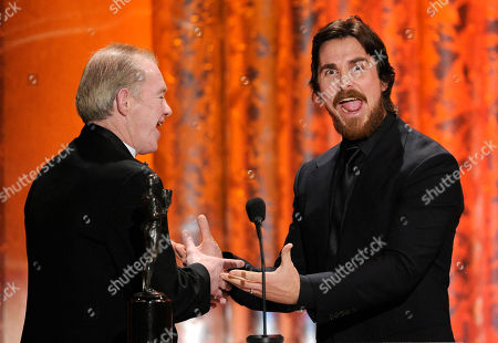 "Christian Bale, Dicky Eklund Dicky Eklund, left, joins Christian Bale on stage as he accept the award for best male actor in a supporting role for ""The Fighter"" at the 17th Annual Screen Actors Guild Awards on in Los Angeles. Dicky Eklund is the man portrayed by actor Christian Bale in ""The Fighter"