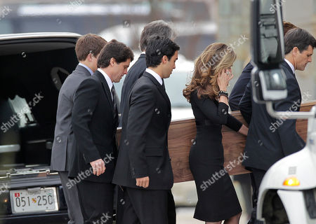 Maria Shriver The casket of R. Sargent Shriver is carried into Our Lady of Mercy Catholic church for a funeral Mass in Potomac, Md., just outside Washington, . Shriver, the man responsible for launching the Peace Corps after marrying into the Kennedy family, died last Tuesday at age 95 after suffering from Alzheimer's disease for years. His daughter, Maria Shriver, wife of actor and former California Governor Arnold Schwarzenegger, brushes back her hair at right