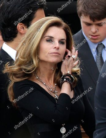Stock Image of Maria Shriver Maria Shriver arrives for the funeral Mass of her father, R. Sargent Shriver, at Our Lady of Mercy Catholic church in Potomac, Md., just outside Washington, . Shriver, the man responsible for launching the Peace Corps after marrying into the Kennedy family, died last Tuesday at age 95 after suffering from Alzheimer's disease for years. Shriver is the wife of actor and former California Governor Arnold Schwarzenegger