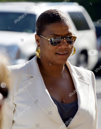 Queen Latifah arrives at a memorial service for singer Teena Marie at Forest Lawn-Hollywood Hills in Los Angeles . Teena Marie, whose given name was Mary Christine Brockert, died Dec. 26, 2010, at age 54