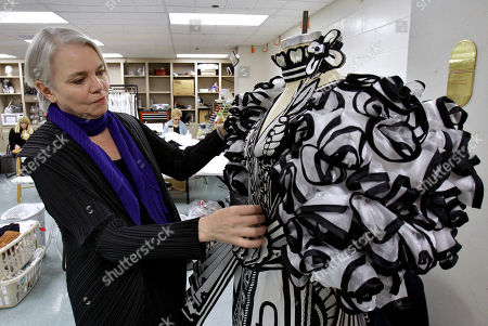 "Janet Dacal Susan Hilferty, costume designer for the play ""Wonderland"" is shown in the wardrobe room in Tampa, Fla. The show is set to open April 17 at the Marquis Theatre on Broadway in New York"