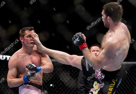 Forrest Griffin, Rich Franklin Forrest Griffin, right, lands a kick against Rich Franklin during the second round of a light heavyweight UFC 126 mixed martial arts bout, in Las Vegas. Griffin won by unanimous decision
