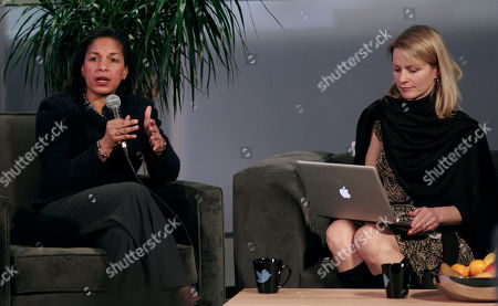 Stock Picture of Susan Rice, Katie Jacobs Stanton Ambassador Susan Rice, the US Ambassador to the UN, speaks next to Katie Jacobs Stanton, VP of Twitter International, at the Twitter office in San Francisco