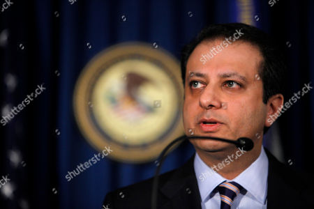 Preet Bharara United States Attorney for the Southern District of New York Preet Bharara speaks to reporters during a news conference to announce the charges against alleged weapons dealer Viktor Bout, in New York