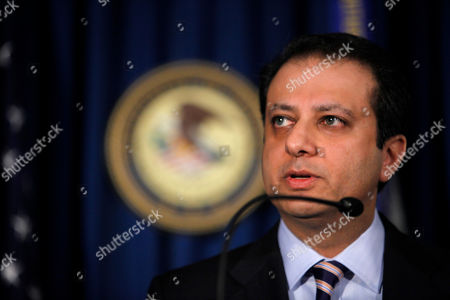 Preet Bharara U.S. Attorney for the Southern District of New York Preet Bharara speaks at a news conference in New York, to announce the charges against Russian arms trafficking suspect Viktor Bout. For nearly 20 years Bout, a former Soviet military officer who speaks four languages, ruled an empire of the air through a private fleet of long-haul cargo planes. He faces trial this week in a New York federal court for what Western governments say was his specialty, transporting tons of weapons that inflamed violence across the world's war zones