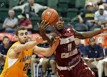Harper Kamp, Corey Raji California forward Harper Kamp (22) goes after a loose ball against Boston College's Corey Raji (11) during the second half of an NCAA basketball game for third place at the Old Spice Classic tournament in Lake Buena Vista, Fla., . Boston College won 68-46