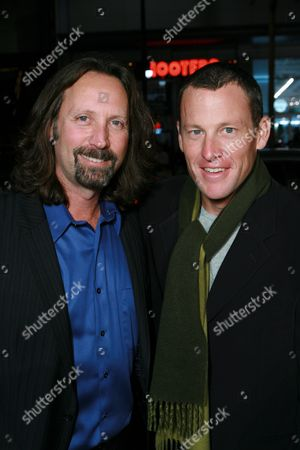 Producer Scott Mednick and Lance Armstrong