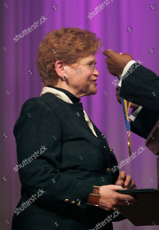 Dr. Deborah Lipstadt Dr. Deborah Lipstadt, left, receives the 2010 James Weldon Johnson medal from Dr. Rudolph Byrd, out of frame at right, during a ceremony at the Carter Center in Atlanta