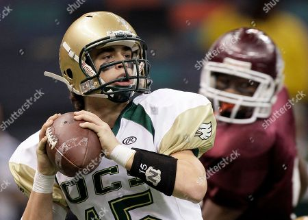 Paul Michael Garner Ouachita Christian quarterback Paul Michael Garner, left, looks for a receiver as he is pressured by a White Castle defender in the first half of the Class 1A high school football championship, in New Orleans