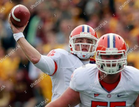 Kyle Parker, Dalton Freeman Clemson quarterback Kyle Parker, behind, passes as Dalton Freeman defends in the third quarter of an NCAA college football game against Boston College, in Boston. Boston College won 16-10