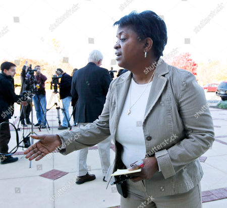 Stock Image of Karen Campbell Karen Campbell, Prince Georges County, Md., County Council communications director, speaks to reporters outside the County Administration building in Upper Marlboro, Md., . A spokeswoman for the U.S. attorney's office in Maryland says federal authorities have arrested Prince George's County Executive Jack Johnson