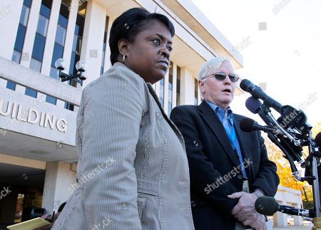 Stock Photo of Jim Keary, Karen Campbell Jim Keary, spokesman for Prince Georges County, Md., Office of County Executive, right, and Karen Campbell, the County Council communications director, speak to reporters outside the County Administration building in Upper Marlboro, Md., . A spokeswoman for the U.S. attorney's office in Maryland says outgoing Prince George's County Executive Jack Johnson and his wife, who was recently elected to the County Council, have been arrested by federal authorities