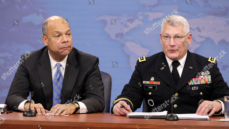 Jeh Johnson, Carter Ham Pentagon General Counsel Jeh Johnson, left, and Army Gen. Carter Ham, speak to reporters on gays in the military, at the Pentagon