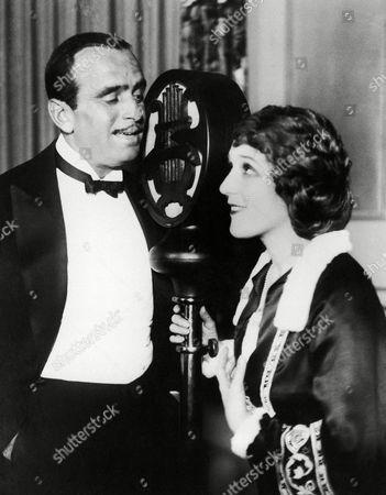 Mary Pickford, Douglas Fairbanks Mary Pickford and Douglas Fairbanks broadcasting over W.J.Z