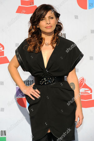 "Stock Picture of Ceci Bastida Mexican singer Ceci Bastida pose for photographers upon her arrival to the 11th Annual Latin Grammy Awards in Las Vegas. Bastida, a Latin Grammy Nominee, is releasing a new album titled, ""La edad de la violencia."" She says she wrote the album's music during her first pregnancy"