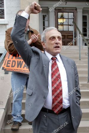 Carl Paladino Republican gubernatorial candidate Carl Paladino pumps his fist during a campaign stop in Batavia, N.Y