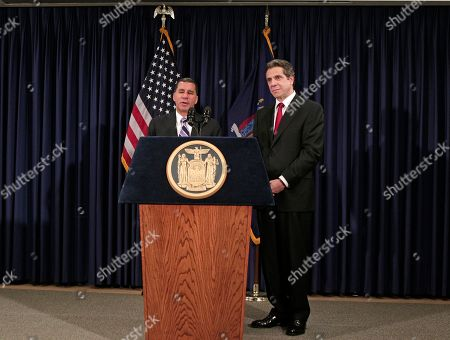 David Paterson, Andrew Cuomo Currrent New York Governor David Paterson, left, and Governor-elect Andrew Cuomo listen to reporters' questions at a news conference following a private meeting at Paterson's offices in New York